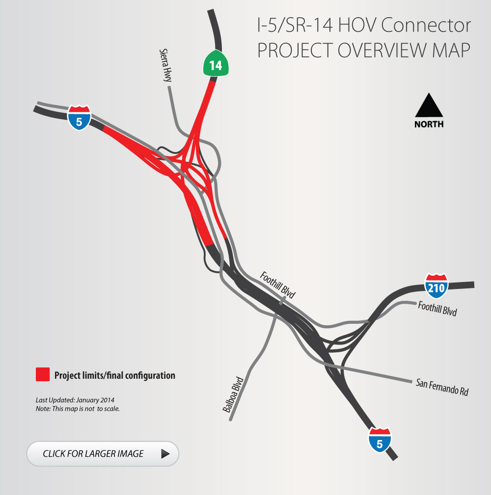 Map Of California 5 Freeway.Golden State Freeway I 5 Antelope Valley Freeway Sr 14 Interchange