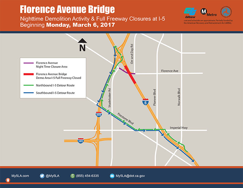 FLORENCE AVENUE INTERCHANGE PROJECT – Week of March 5, 2017